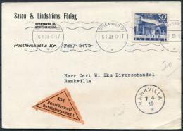 1939 Sweden Stockholm Remboursement Postforskott Postcard - Ramkvilla - Lettres & Documents