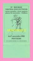 CPM POITIERS   5eme Bourse Toutes Collections 6/7 Novembre 1982 - Poitiers