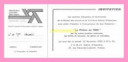 POITIERS  Invitation  A La MJC - Poitiers