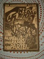 """Propaganda-Zeitschrift """"Der Schulungsbrief"""" Der Reichsorganisation Der NSDAP Berlin 1938 - Revues & Journaux"""