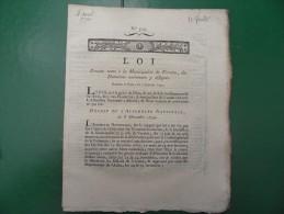 Texte Loi Revolution Tiers �tat:Vervins Fermiers La Bouteille Abbaye Val Saint Pierre Aisne 1791 Thi�rache