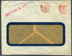 1930s Argentina Franking Machine Cover NEPTUNIA Ship - Lettres & Documents