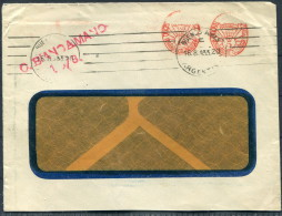 1933 Argentina Franking Machine Cover CONTE BIANCAMANO Ship Italien Line - Lettres & Documents