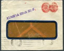 1936 Argentina Franking Machine Cover ALMEDA STAR Ship Blue Star Line - Lettres & Documents