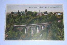 (350) -1- Carte Postale Sur Culan Dans Le Cher Chateau Eglise  Route De Moulluçon - Culan