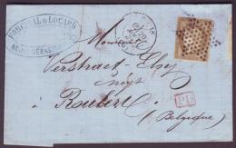 """SEINE - LAC - Tàd PARIS (1378) + Etoile Pleine Sur N° 56 + """"P.D"""" Rouge Pour Roulers (Belgique) - Marcofilia (sobres)"""