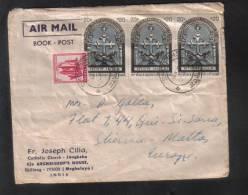 INDIA  - AIR MAIL SEND TO SLIEMA MALTA - 1973 - India