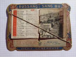 CALENDRIER  1909  VICHY GENEREUSE   BUSSANG = SANG BU    2 SCAN