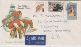 AUSTRALIA - 1977 - Post Office Souvenir Cover - Air Mail - Sovereign Hill Gold Mining - Viaggiata Per Coventry - 1966-79 Elizabeth II