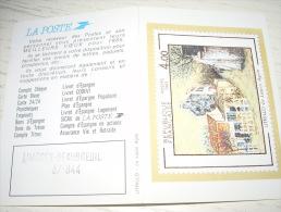 petit calendrier 1985 utrillo le lapin agile - la poste limoges beaubreuil 87-944