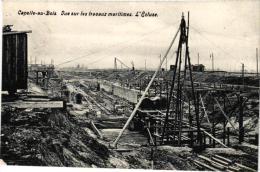 BRABANT  2 CP  Kapelle Op Den Bosch Maritieme Werken Sas In Opbouw     1909  Luna Park - Kapelle-op-den-Bos
