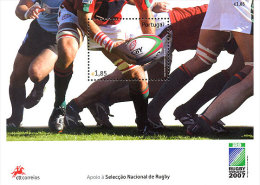 2007 Portugal - Tribute To Portugese Rugby Part In WC 2007 In France- MS - Paper - MNH** - Rugby