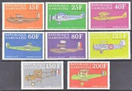 GABON  C 103a-h   *   EARLY  AVIATION - Gabon