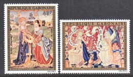 GABON  C 157-8   *  15th  CENTURY  CHRISTMAS  TAPESTRY - Gabon