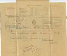 1930 TELEGRAMMA REGNO MOD. 30 TIMBRI VERDE CERCHIO E LINEARE CORIGLIANO CALABRO (CS) – BANDELLA INTEGRA E OTTIMA QUALITÀ - Storia Postale