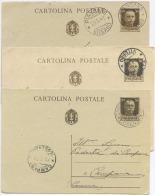 CARTOLINA POSTALE IMPERIALE C.30: TIRATURE CARTONCINI E STAMPA DIFFERENTI – UNA DI FORMATO MAGGIORE - USATE OTTIMA QUALI - 1900-44 Vittorio Emanuele III