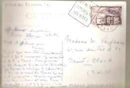 Daguin 1954-abbayes.montagne.sites Dourgne Tarn 81 Sur Carte Photo Encalcat-carte Impec Scan Flou - Marcophilie (Lettres)
