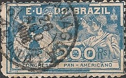 BRAZIL - 3rd PANAMERICAN CONGRESS, RIO DE JANEIRO 1906 - USED - Gebraucht