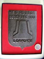 Plaque Commémorative Ecusson : HF 5  Hauts Fourneaux ROMBAS Décembre 1989 LORFONTE : SIDERURGIE LORRAINE - Advertising (Porcelain) Signs