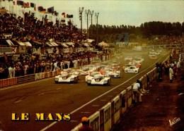 LE MANS..LE DEPART ..CPM ANIMEE. - Le Mans