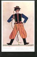 CPA Polskie Typy Ludowe, Lowicz, Pole En Costume Typique - Ethniques & Cultures