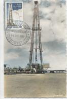 HASSI-MESSAOUD (Yvert N°1205) Carte Maximum / Inauguration Oléoduc Saharien - 1950-59