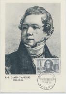 DAVID D'ANGERS. (Yvert N°1210) Carte Maximum / IPremier Jour /Angers - Cartes-Maximum