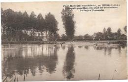(293-77) Port Montain Hostellerie Par Hermé - F. Benoit, Propriétaire (on Prend Des Pensionnaires) Sa Plage Et Promenade - France