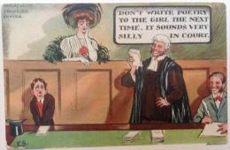 Comic Humour Postcard Court Humour Judge  2 Cards - Fumetti