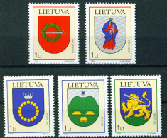 Litauen, Lietuva, 2003, 809/13, Stadtwappen (XII). MNH ** - Lithuania