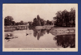 95 L'ISLE ADAM Vue Sur L'Oise ; Barques - Animée - L'Isle Adam