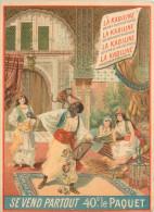 CALENDRIER  1899  publicit�  la kabiline sc�ne mauresque    2 scans