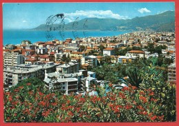 CARTOLINA VG ITALIA - BORDIGHERA (IM) - Panorama - 10 X 15 - ANNULLO BORDIGHERA 1982 - Imperia