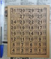 Feuille De Tickets De Pain ; Mars 1919     -    Rationnement - Documents