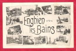Enghien Les Bains-multivue -cpa - Enghien Les Bains