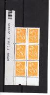 Marianne De Lamouche--ITVF---- 0.01  €  N°3731a---CD X 6  26.01.06 - Dated Corners