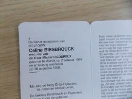Doodsprentje Celine Biesbrouck Wervik 2/10/1904 - 30/8/1988 ( Michel Figoureux ) - Religión & Esoterismo