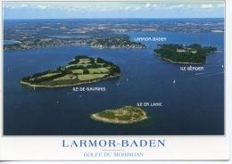Larmor Baden Vue Générale & Iles De Gavrinis - Er Lanic - Berder - Couleurs De Bretagne N°12234 Jack Aérienne - Larmor-Plage