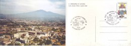 Italia 1994 - Salesiani Di S.Gregorio E Veduta Dell'Etna. Cartolina Affrancata E Annullo Speciale - Christianity