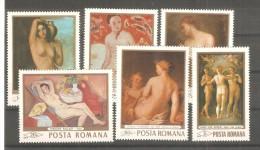 Serie Nº 2454/9 Rumania - Desnudos