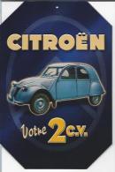 Citroën Votre 2 C.v. (plaque Métal)* - Advertising (Porcelain) Signs