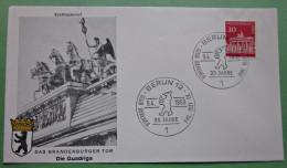 Brief FDC Briefmarken Deutschland Berlin Brandenburger Tor 1966 Ersttagsbrief - Berlin (West)