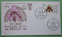 Brief FDC Briefmarken Deutschland Berlin Orchidee Botanischer Garten 1979 Ersttagsbrief - Berlin (West)