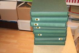 (518) Super Schn�ppchen ! 8 neuwertige Lindner SF Alben+Schuber BRD 1949-2002 mit Mengen Marken,Serien+Blocks
