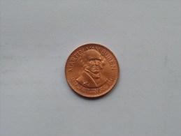 MARTIN VAN BUREN - Presidential Hall Of Fame ( 26 Mm./ 6.4 Gr. / 1968 Franklin Mint - For Grade, Please See Photo ) ! - Elongated Coins