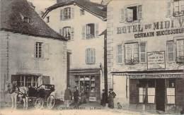 12 - Mur-de-Barrez - La Place (Hotel Du Midi, Café Germain) (Poids Public) - France
