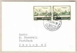 Zumstein Flugpost Abart Doppelprägung #F29.2.01 Auf Brief - Autres Documents
