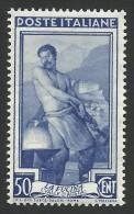 Italy, 50 C. 1955, Sc # 668, MNH - 6. 1946-.. Republic
