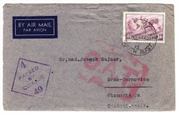 O.A.T. Zensur Luftpostbrief  26.7.45 Adelaide Australien Nach Brno Cernovice Tchechei (mit Inhalt) - Poste Aérienne
