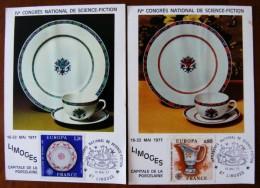 Congrès National De Science Fiction 19.05.1977 Limoges Les 2 Cartes - Sonstige